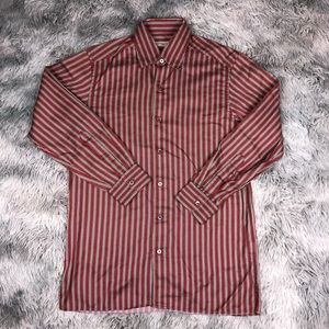 Ermenegildo Zegna Italy Striped Button Down Shirt